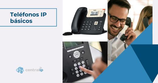 Teléfonos IP con funcionalidades básicas para recepción o atención al cliente - Central IP